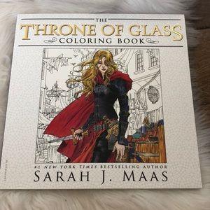NWOT Sarah J Maas throne of glass coloring book